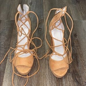 Lace-up Heels by Nicole Miller (never worn)
